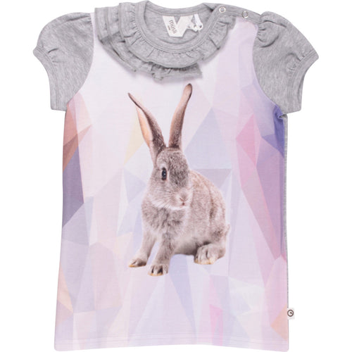 Müsli by Green Cotton - T-shirt, Spicy Rabbit - Pale Grey Melange