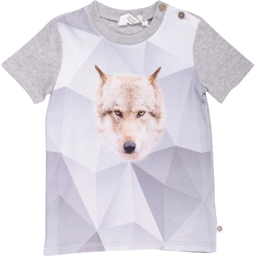Müsli by Green Cotton - T-shirt, Spicy Wolf - Pale Grey Melange