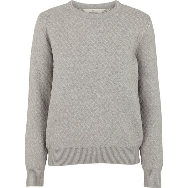 Image of   Basic Apparel - Sweater, Tea - Grey Melange
