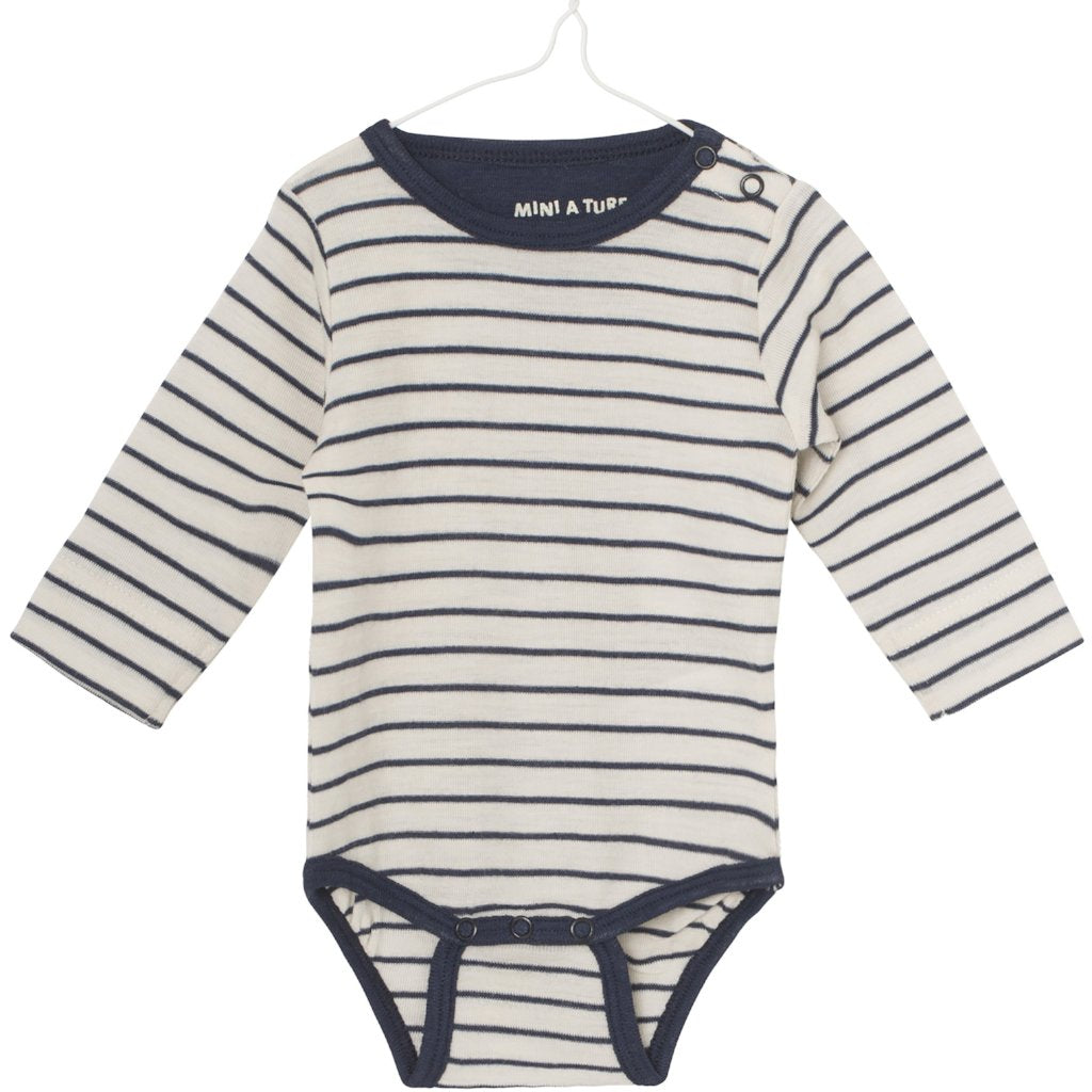 Image of   Mini A Ture - Body LS, Ellis (Unisex) - Mood Indigo (Basis)