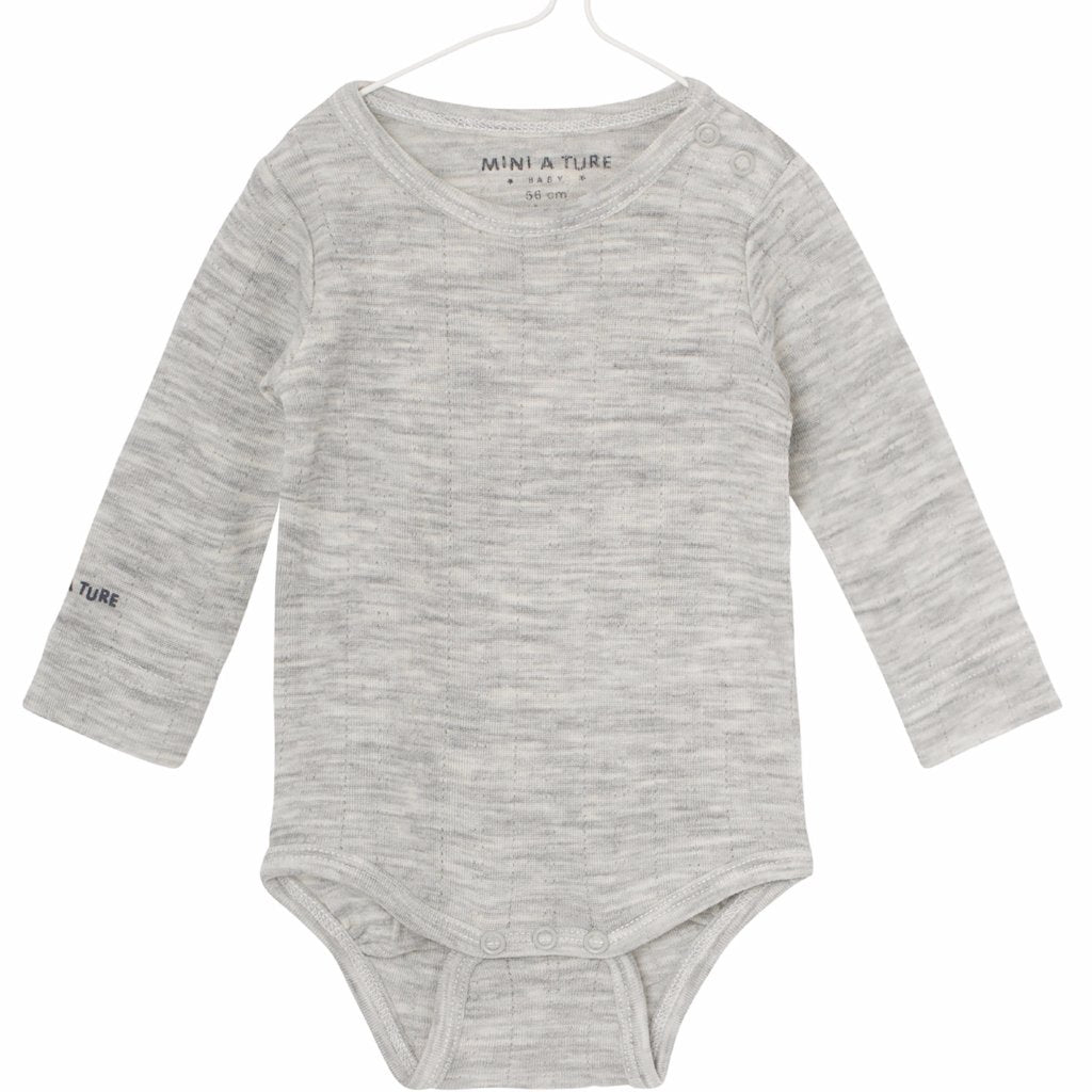 Image of   Mini A Ture - Body LS, Emmely - Light Grey Melange (Basis)