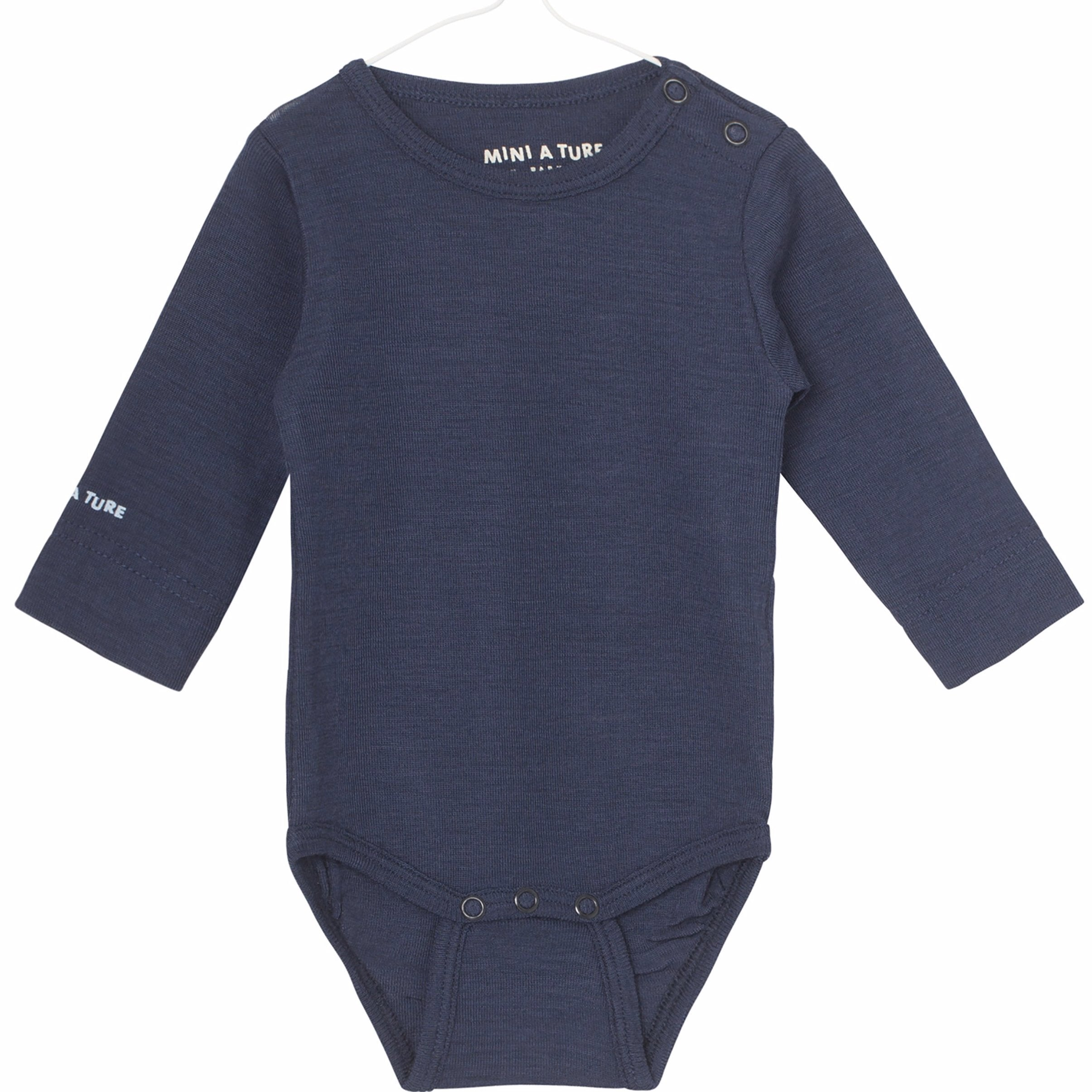 Image of   Mini A Ture - Body LS, Ellis - Mood Indigo (Basis)