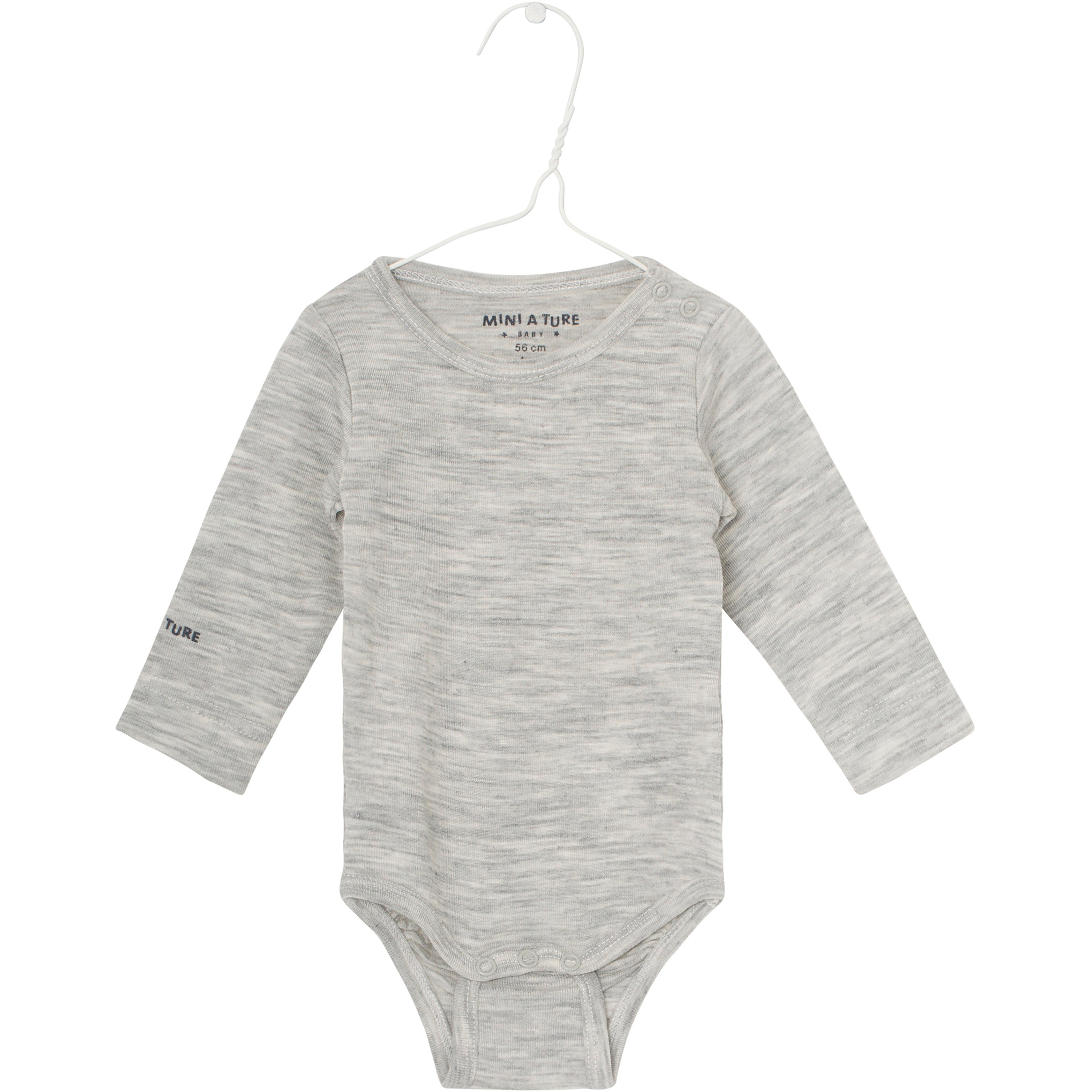 Mini A Ture - Body LS, Ellis - Light Grey Melange (Basis)