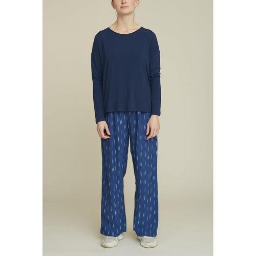 Basic Apparel - Pants, Fleur - Mid Blue