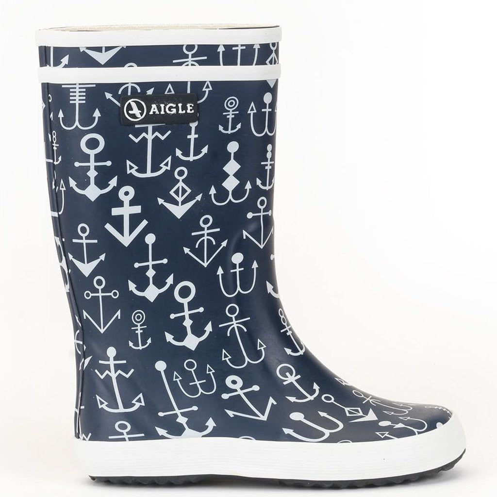 Image of   Aigle - Gummistøvle, Lolly Pop - Dark Navy / Anchor