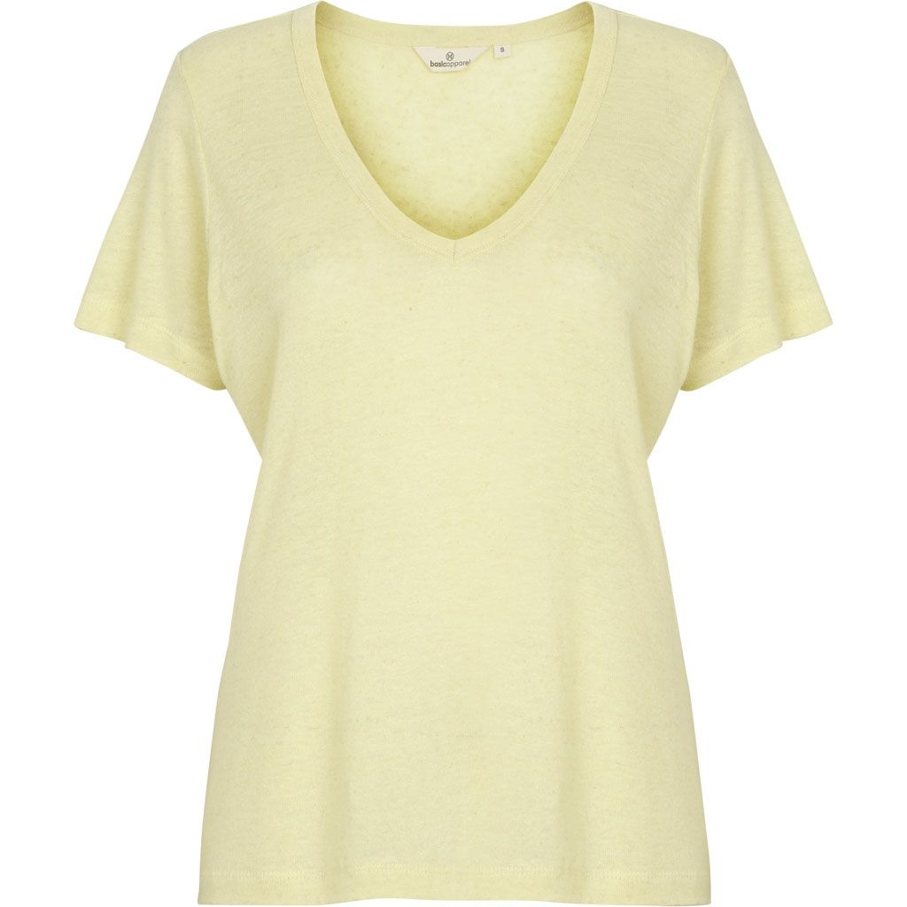 Image of   Basic Apparel - T-shirt, Monica - Soft Yellow