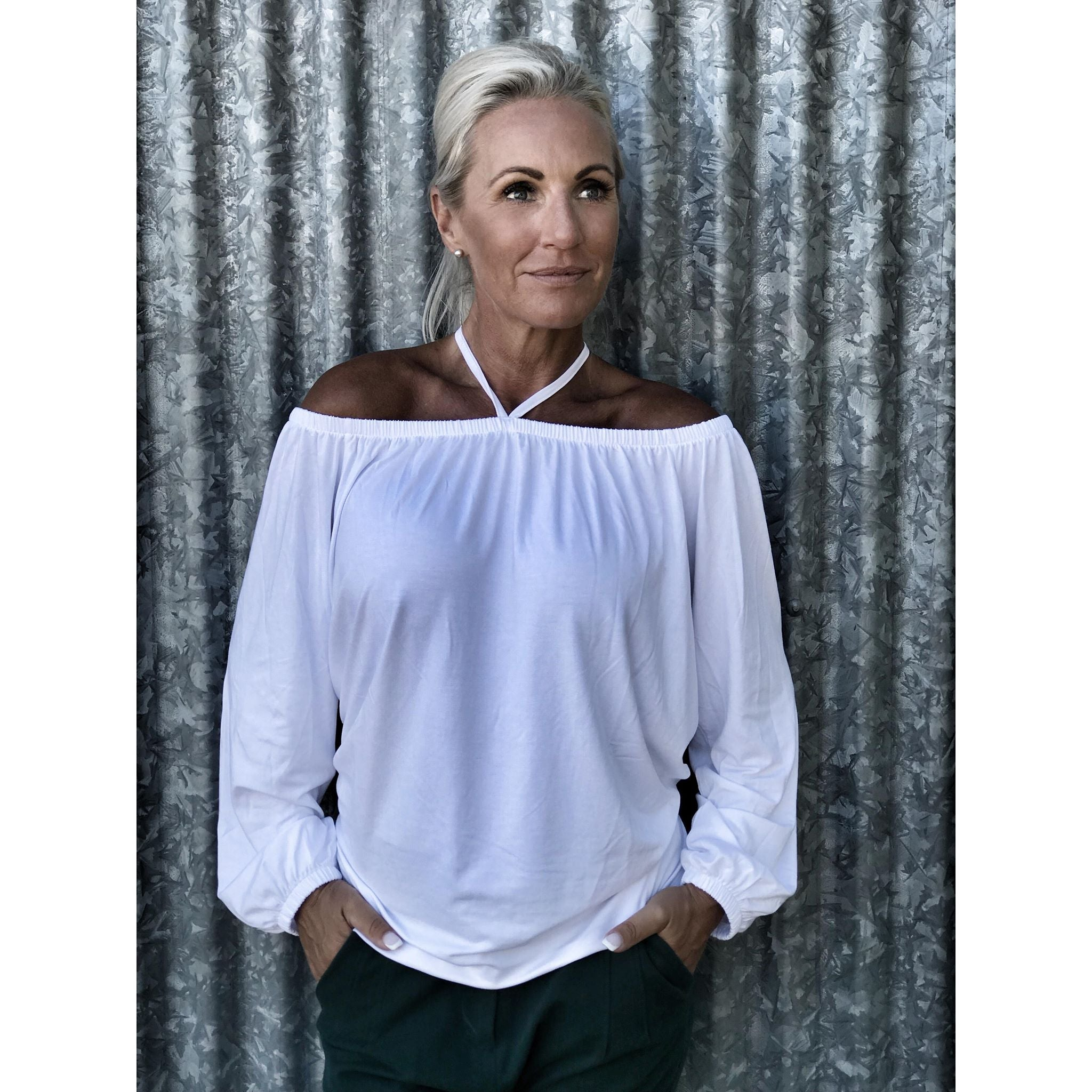 Comfy Copenhagen - Bluse, Love Bites - Optic White
