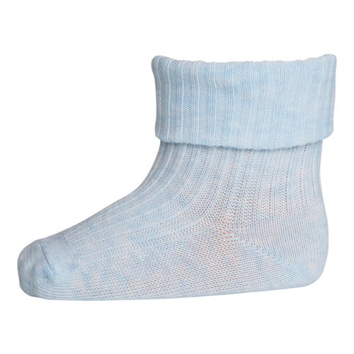 MP Strømper - Strømper, 533 Cotton rib - 480 Light Blue Melange