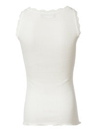 Rosemunde - Top m. blonde - New White (Basis)