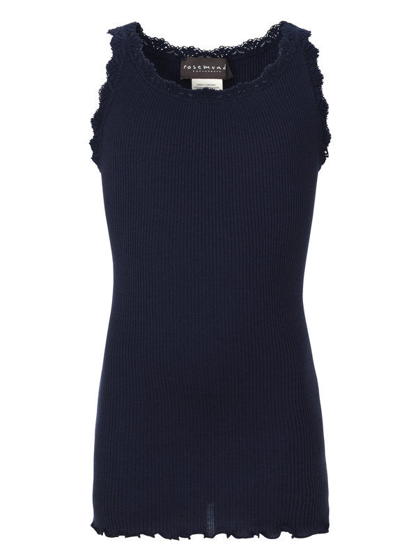 Rosemunde - Top m. blonde - Navy (Basis)