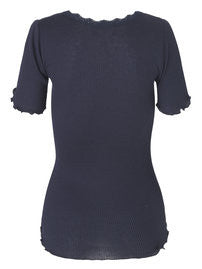 Rosemunde - T-shirt m. blonde - Navy