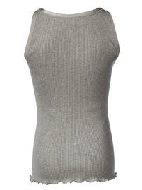 Rosemunde - Basis tank top - light grey melange