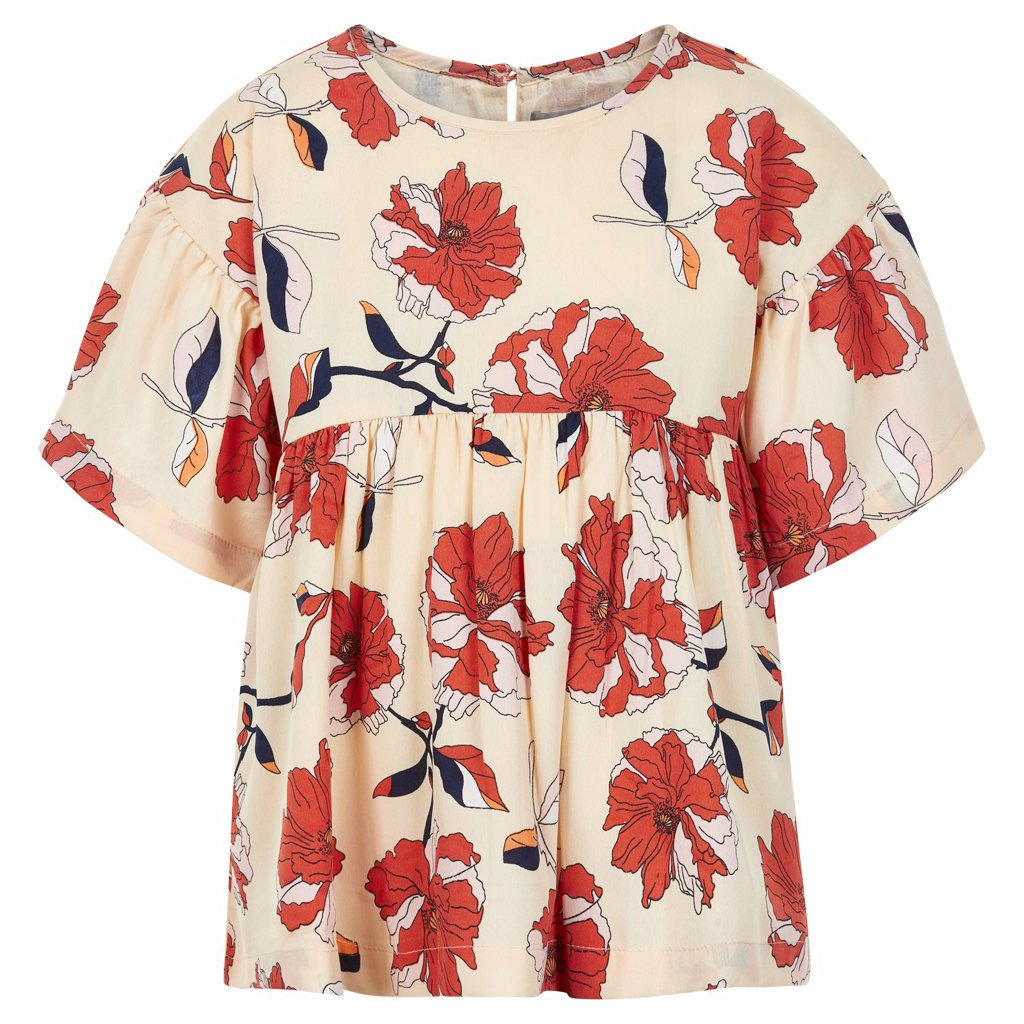 Image of   Creamie - Blouse Flower Print SS (820596) - Navajo
