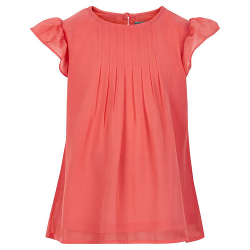 Creamie - Blouse Chiffon SS (820597) - Spiced Coral