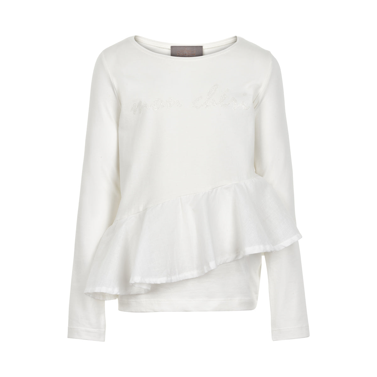 Creamie - T-shirt LS Ruffle (820765) - Cloud