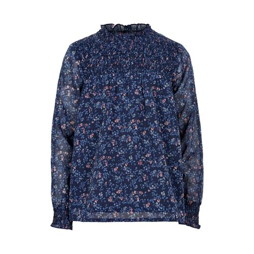 Image of   Creamie - Blouse Small Flower Chiffon (820833) - Navy Night