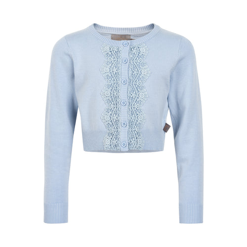 Creamie - Short Cardigan Lace (821113) - Xenon Blue