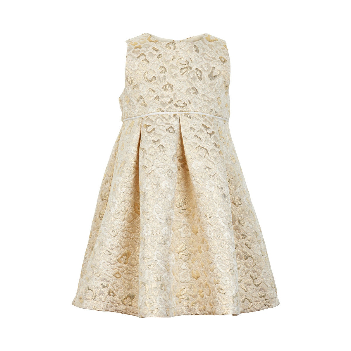 Creamie - Dress Brocade Leo (840068) - Buttercream