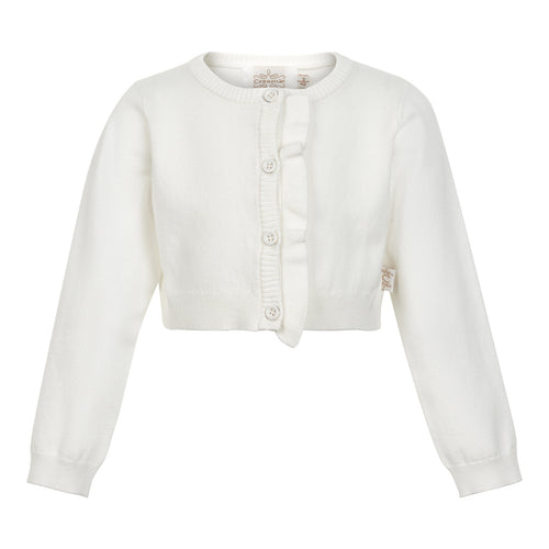 Creamie - Short Cardigan Frill (840070) - Cloud