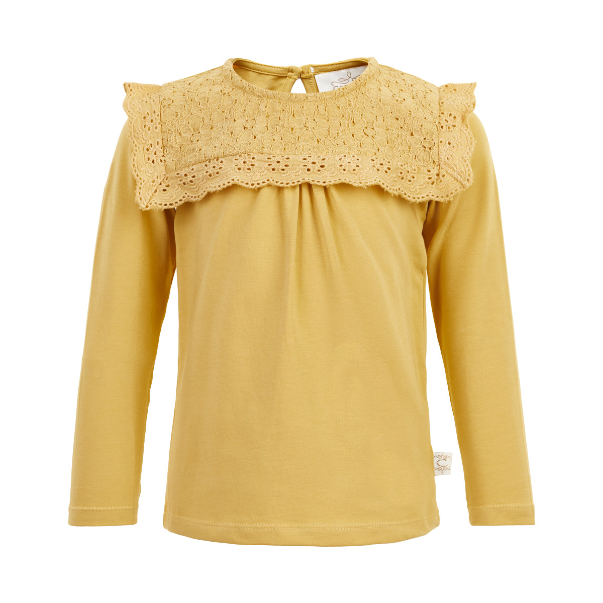 Image of   Creamie - T-shirt LS Lace (840182) - Rattan