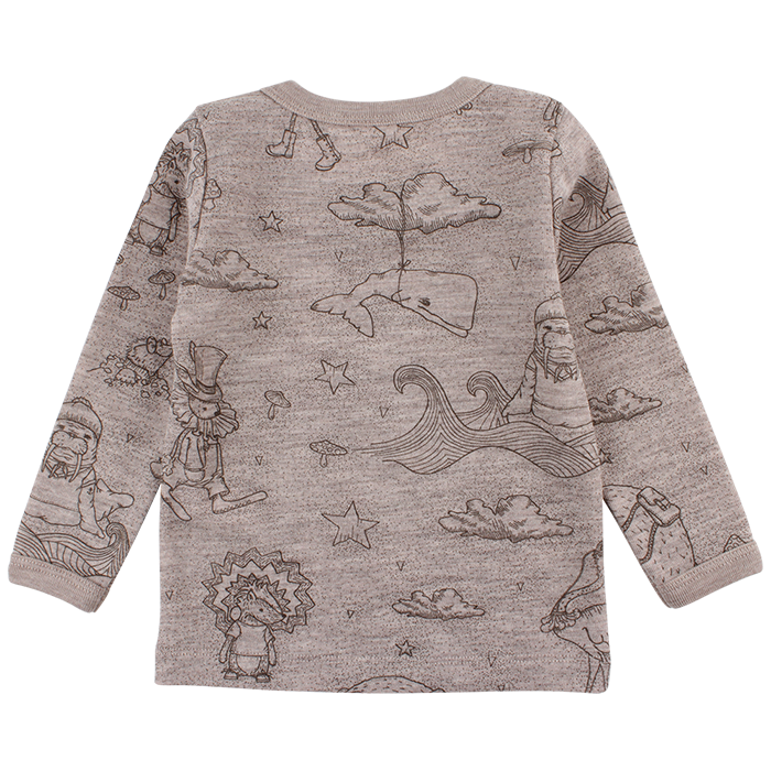 EN FANT - Wool Top LS, Forrest - Moon Rock
