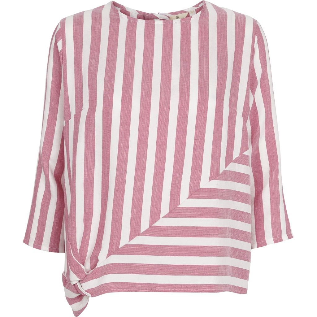 Image of   Basic Apparel - Bluse, Vacation Blouse - Off White / Pink