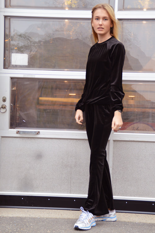 Cost:Bart - Cozy Flared Pants (C4752) - Black Velvet
