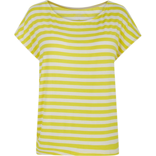 Comfy Copenhagen - T-shirt, With Or Without You - Yellow Stripe