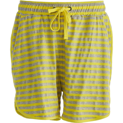 Comfy Copenhagen - Shorts, One More Night - Light Grey Melange Stripe