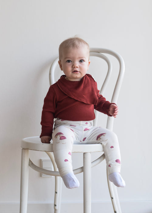 Petit Piao - Modal Body LS - Tomato Red