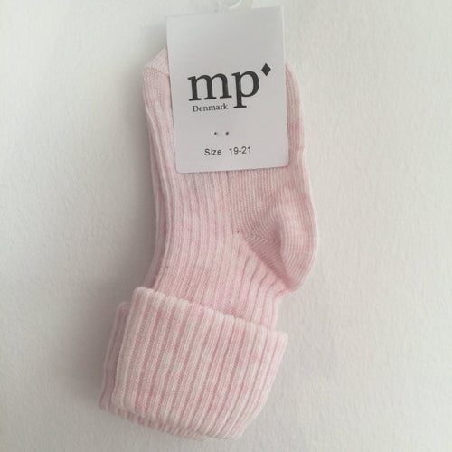 MP Strømper - Strømper, 533 Cotton rib - 481 Light Rose Melange
