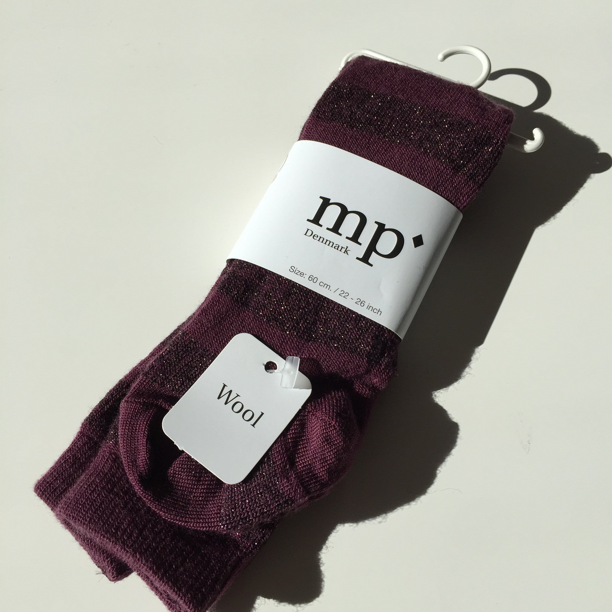 MP Strømper - Strømpebukser, 3911 Evy Wool - 843 Grape Wine (Bordeaux)