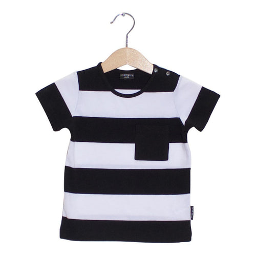 Lucky No.7 - Little Bandit Tee SS - Black / White