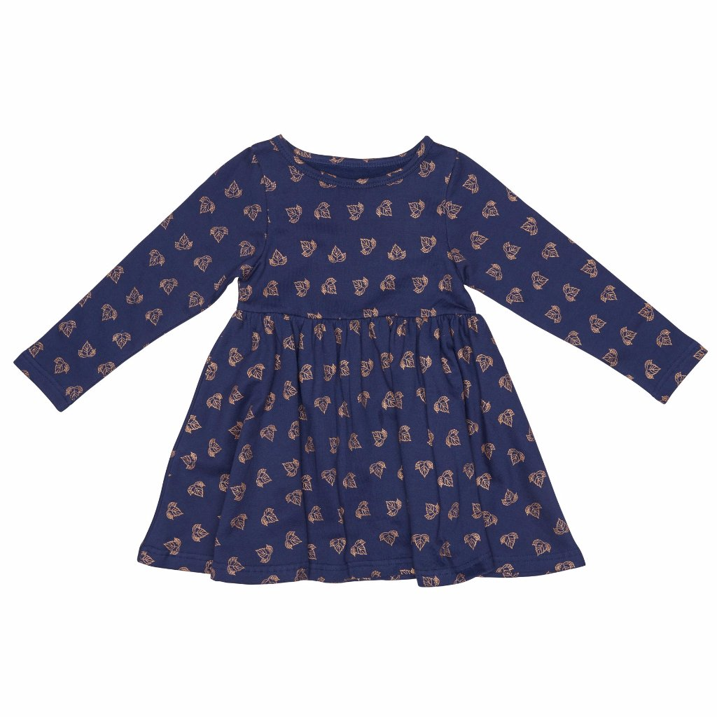 byClaRa - Leaf Dress - Navy Gold