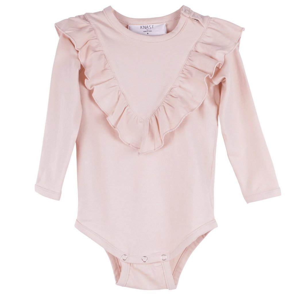 Image of   KNAST by KRUTTER - Body w. Ruffle LS - Rose