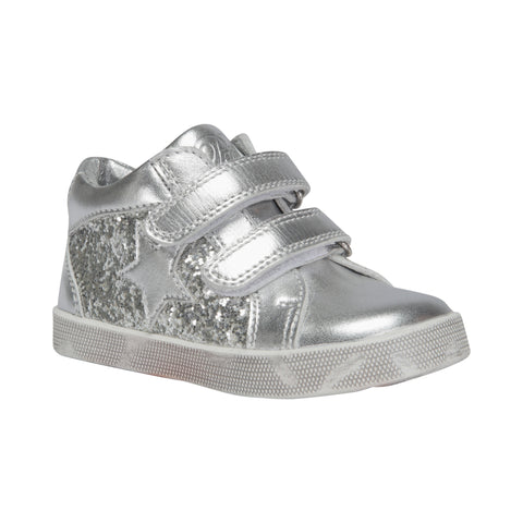Petit by Sofie Schnoor - Baby Glitter Sneakers m. velcro - Silver (HS17)