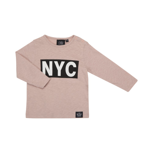Petit by Sofie Schnoor - T-shirt LS, NYC - Cameo Rose