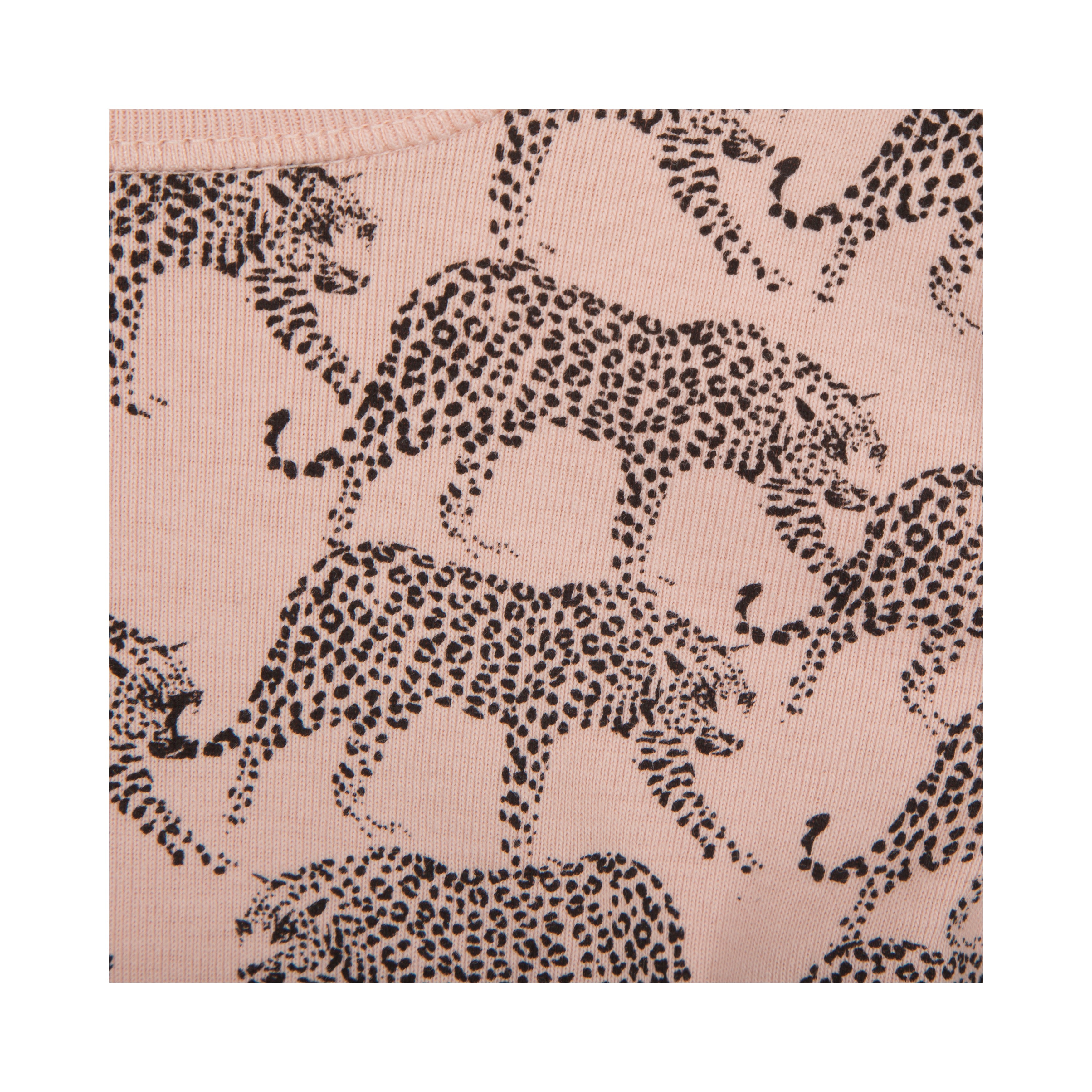 Petit by Sofie Schnoor - Body LS, Leopard - Cameo Rose