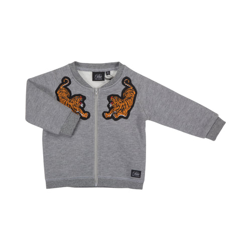 Petit by Sofie Schnoor - Baby Jacket, Tiger - Grey Melange