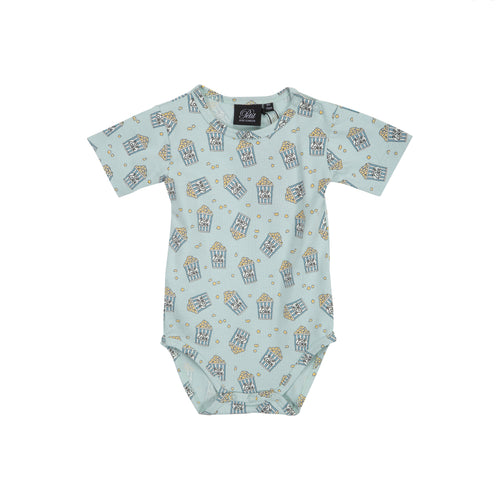 Petit by Sofie Schnoor - Body SS, Aske - Dusty Green / Pop Corn