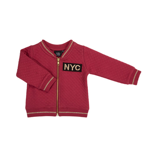 Petit by Sofie Schnoor - Sweat Jacket, NYC Quilt - Earth Red