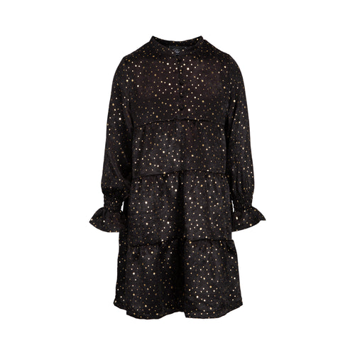 Petit by Sofie Schnoor - Dress LS, Anemone - Black / Gold