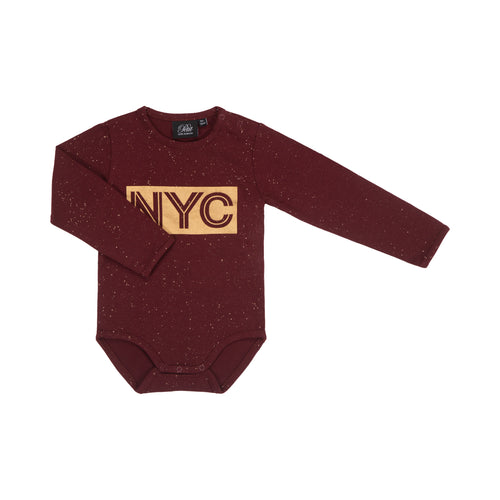 Petit by Sofie Schnoor - Body LS, Dicte NYC - Dark Red / Gold