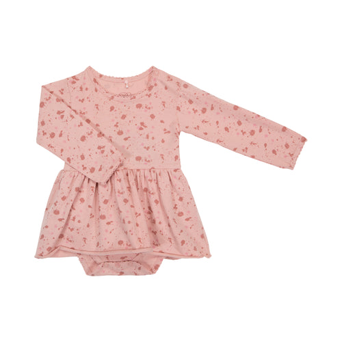 Petit by Sofie Schnoor - Body Dress LS, Rita - Light Rose Splash