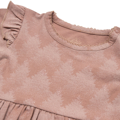 Petit by Sofie Schnoor - Body Dress LS, Rita - Rosy Brown