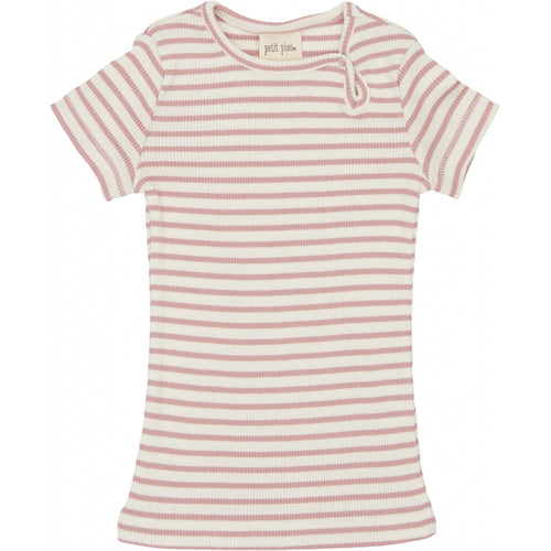 Petit Piao - Modal T-shirt SS - Rose Striped