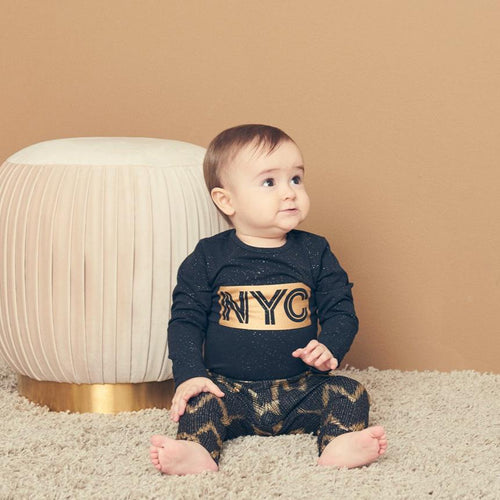Petit by Sofie Schnoor - Body LS, Dicte NYC - Black / Gold