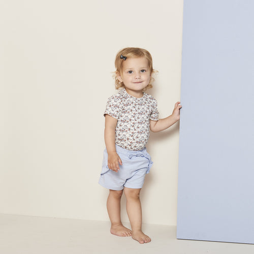 Petit by Sofie Schnoor - Body SS, Dicte - Off White / Flower