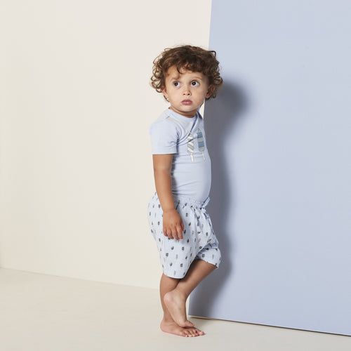 Petit by Sofie Schnoor - Body SS, Aske - Light Blue