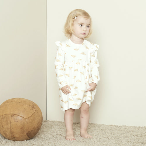 Petit by Sofie Schnoor - Dress LS, Synne - Off White / Gold